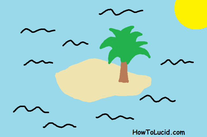Finding an island in a lucid dream