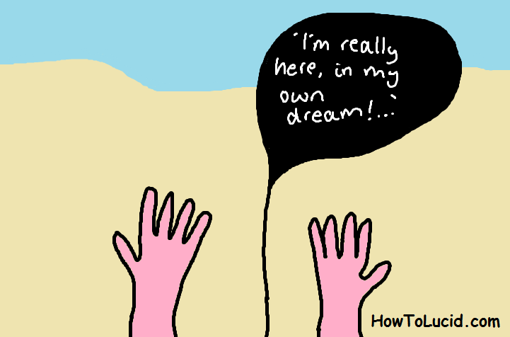 Looking at your hands in a lucid dream