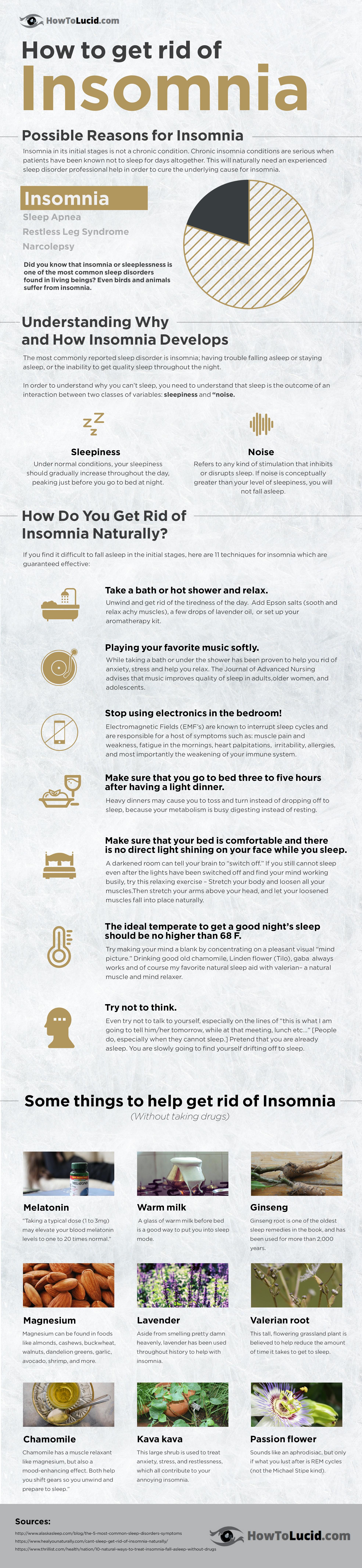 Remove insomnia infographic