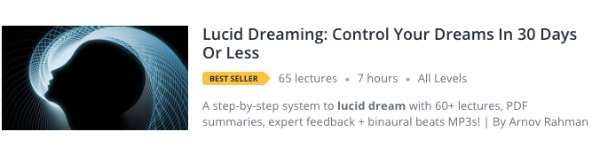 The Bestselling Udemy Courses On Lucid Dreaming In 2019